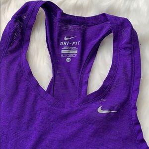 Nike Dri-fit workout tank purple